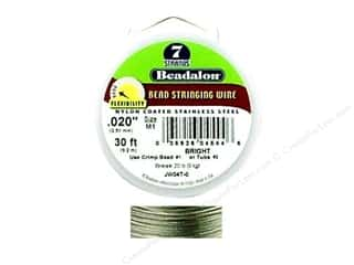 Beadalon Bead Wire 7 Strand .020&quot; Bright 30&#39;