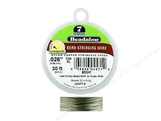 "7"" wire: Beadalon Bead Wire 7 Strand .026 in. Bright 30 ft."
