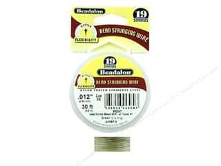 Wire Beadalon Bead Wire: Beadalon Bead Wire 19 Strand .012 in. Bright 30 ft.
