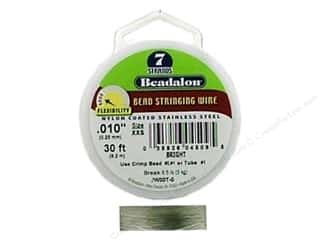 "7"" wire: Beadalon Bead Wire 7 Strand .010 in. Bright 30 ft."