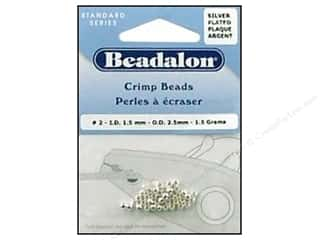 Beadalon Crimp Bead 2.5mm Silver 1.5gm