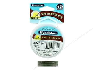 Wire Beadalon Bead Wire: Beadalon Bead Wire 49 Strand .024 in. Bright 30 ft.