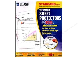 Page Protectors Organizers: C-Line Sheet Protector 8 1/2 x11 in. Top Load Clear (100 pieces)