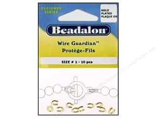 Findings Miscellaneous Findings: Beadalon Wire Guardian .022 in. Gold Plated 10 pc.