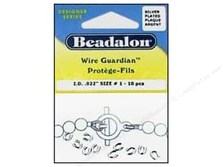 Findings Miscellaneous Findings: Beadalon Wire Guardian .022 in. Silver Plated 10pc