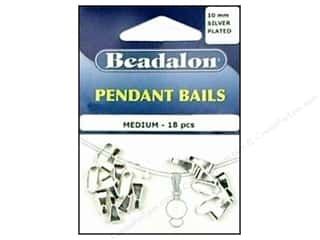Beadalon Pendant Bail Medium 10 mm Silver Plated 18 pc.
