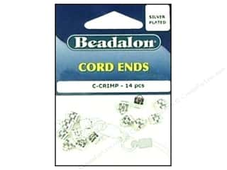 Sparkle Sale Blumenthal Favorite Findings: Beadalon Cord Ends C-Crimp Silver Plated 14 pc.