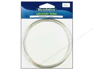 Beadalon Plated Steel Memory Wire Necklace Silver .5 oz.
