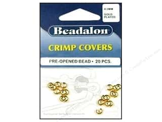 Beadalon Crimp Covers 4mm Gold 20pc
