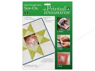 Fabric 1 Sheet: Inkjet Fabric Sheets by Printed Treasures Sew On 5pc