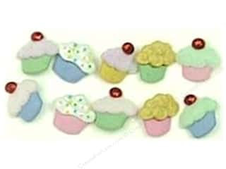 Food Buttons Galore Button Sweet Delights: Jesse James Dress It Up Embellishments Button Mini Sweet Treats