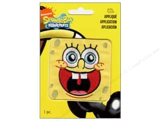 Wrights Appliques Iron On Sponge Bob Face
