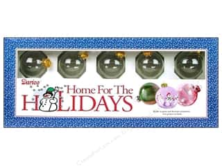 Home Decor Christmas: Darice Glass Ball Ornaments 2 in. 10 pc.