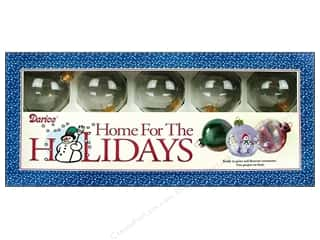 Darice Holiday Decor Glass Ball Ornaments 60mm 10pc