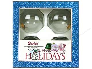 Darice Holiday Decor Glass Ball Ornaments 80mm 4pc