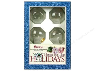 "Darice Holiday Decor Glass Ball Ornaments Flat Sided 2 5/8"" 6pc"