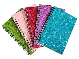 Darice Notebook Rectangle 4&quot;x 6&quot; Assorted Glitter