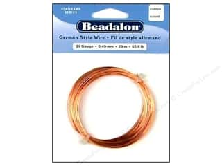 beadalon copper wire: Beadalon German Style Wire 26Gage Copper 20m