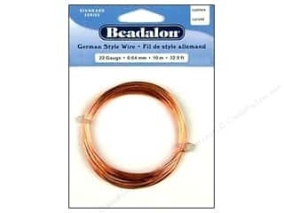 beadalon copper wire: Beadalon German Style Wire 22ga Round Copper 32.8 ft.