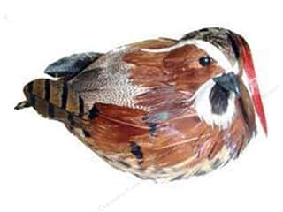 "Floral Arranging Animals: Midwest Design Birds 5"" Feather Quail Brown 1pc"