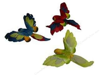 Decorative Floral Critters & Accessories Midwest Design Birds: Midwest Design Birds Feather Parrot Open Wing Assorted