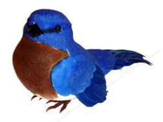 "Decorative Floral Critters & Accessories Captions: Midwest Design Birds 3.88"" Feather East Bluebird 1pc"