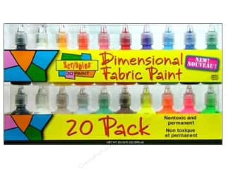 Painting Sewing & Quilting: Scribbles Dimensional Fabric Paint Set 20pc