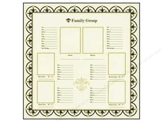 Bazzill Heritage Paper: Bazzill 12 x 12 in. Paper Family Group Chart #1 15 pc.