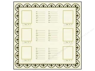 Bazzill 2 Sheets: Bazzill 12 x 12 in. Paper Heritage Family Group Chart #2 15 pc.