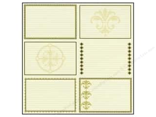 Borders Height: Bazzill 12 x 12 in. Paper Heritage Note Cards Horizontal 15 pc.