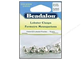 Beadalon Lobster Clasps 11 x 6 mm Silver 10 pc. (3 pieces)