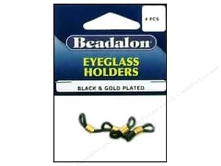 Beadalon Eyeglass Holder Black/Gold 4pc