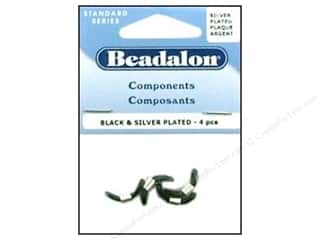 Beadalon Findings: Beadalon Eyeglass Holder Black/Silver 4 pc.