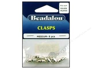 form $6 - $9: Beadalon Barrel Clasps Medium 9.5mm Silver 6pc