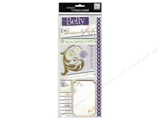 Dimensions Baby: Me&My Big Ideas Sticker Designer Chipboard Designer Belly Beautiful Foil