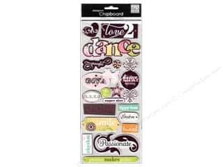 MAMBI Sticker Chipboard Renee Dance Foil