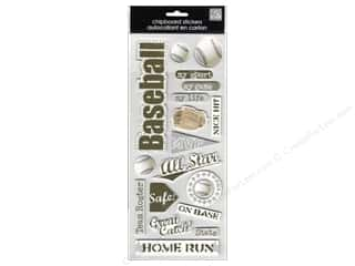 MAMBI Sticker Chipboard Kay Baseball