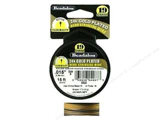 Beadalon Bead Wire 19 Strand .015 in. Gold 15 ft.