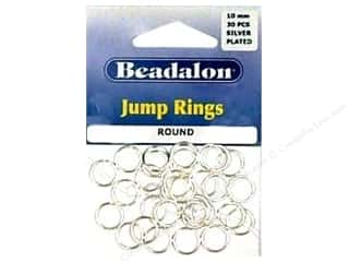 Beadalon Jump Rings/Spring Rings: Beadalon Jump Ring 10mm Silver 30 pc