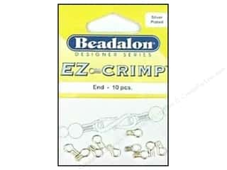 Beadalon Designer BaseMetal EZ-Crimp Ends Slvr