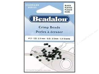 Beadalon Crimp Beads 2.5 mm Black .05 oz.