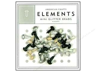 American Crafts Elements Brads Mini Glitter Elegant 40pc