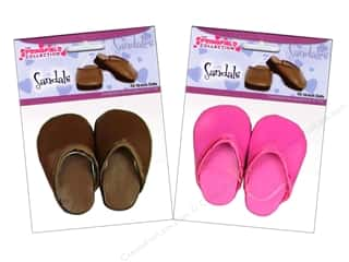 Fibre-Craft Doll Clothes Shoes Clogs Assorted