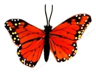 "Insects Basic Components: Midwest Design Butterfly 3.25"" Feather Wire Monarch 1pc (3 pieces)"