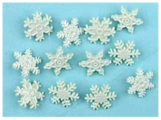 Craft Embellishments Winter: Jesse James Dress It Up Embellishments Snow
