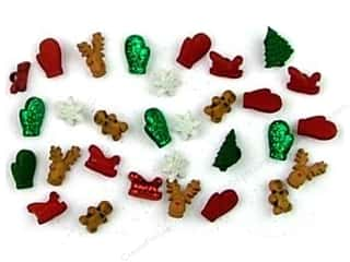 Craft Embellishments Size Metric: Jesse James Dress It Up Embellishments Christmas Collection Christmas Miniatures