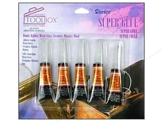 super glue: Darice ToolBox Super Glue All Purpose 3gm 5pc