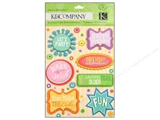 Rhinestones Birthdays: K&Company Grand Adhesions Birthday Words