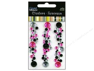 Mark Richards Crystal Sticker Cluster Pink/Blk/Clr