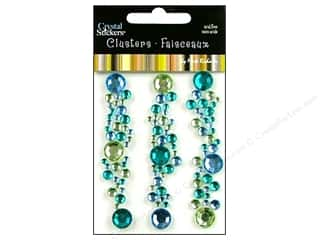 Mark Richards Crystal Sticker Cluster Blu/Cit/Teal